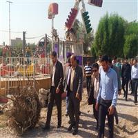 بازديد معاون دادستان مركز خوزستان از روند استاندارد سازي شبكه برق داخلي پارك شهربازي پاداد اهواز